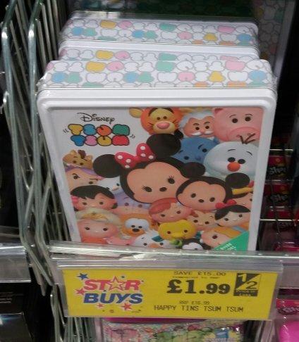 tsum tsum happy tins at home bargains £1.99