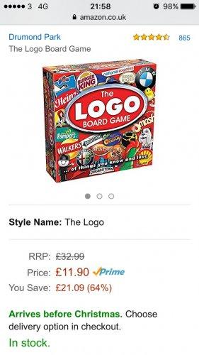The logo board game £11.90 (Prime or £16.65) @ Amazon