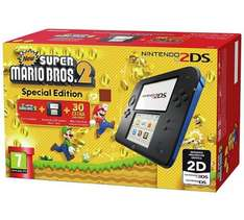 Nintendo 2DS Console (Black and Blue) with New Super Mario Bros 2 £75.99 @ Tesco