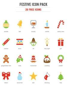 Freebie: Festive Christmas Icon Pack (20 .EPS Icons)