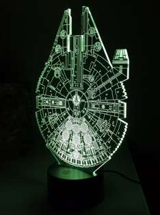 Millennium Falcon LED Night Light WAS £24.99 NOW £18.89 Prime or £22.88 non prime @ AMAZON