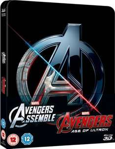 Avengers Double Pack 3D (Includes 2D) – Zavvi Exclusive Limited Edition Steelbook Blu-ray - £13.99