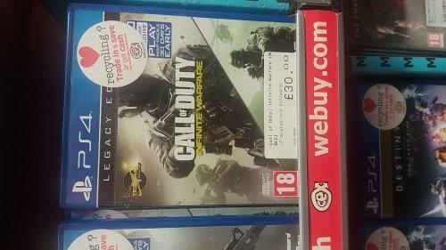 Call of duty infinite warfare Legacy edition  £30 @ CEX instore (No DLC)