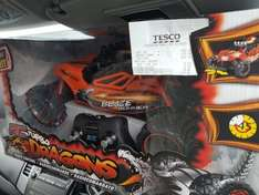 TESCO INSTORE!!! REMOTE CONTROL Turbo Dragons CAR Was £39.99 reduced too £15.00 then an extra 1/3 Off only £10.00