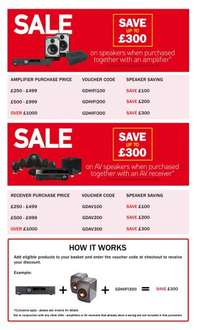 Save Upto £300 on Speakers when bought with an Amp @ Sevenoaks