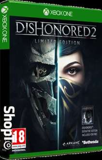 Dishonored 2: Limited Edition - Includes Dishonored: Definitive Edition (PS4/XO) £24.85 Delivered @ Shopto