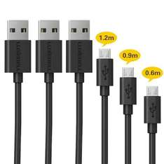 3 Pack Luxebell USB Cable 2.0 Male to micro USB Data Sync Charge Cable £2.99/£6.98 [Prime/Non-Prime] Sold by Simple Tek and Fulfilled by Amazon