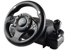 PC Vibration Feedback Racing Wheel With Pedals - £39.99 at Amazon
