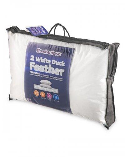 Slumberdown Duck Feather Pillow Pair £ 9.99 @ Aldi [orderonline / in-store on sunday 18th dec]
