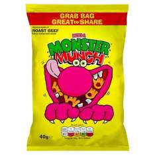 Monster Munch Grab Bags 48g £0.20 at Heron