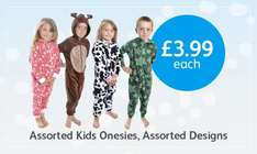 poundstretcher - kids onesies £3.99