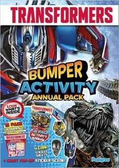 Transformers Activity Annual Bumper Pack 2015 (Activity Annual 2015) £0.49 (Prime)  @ amazon 94% off