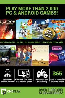 [PC/Android] OnePlay VIP subscription, 12 months access to 1000+ games: £4.01 ($5) Oneplay