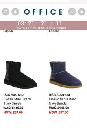 UGG Australia Classic Mini Lizard Black Suede - Ankle Boots £87 office.co.uk