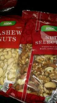 Asda Southport 300g bags of Brazil nuts or Mixed Nut selection 50p
