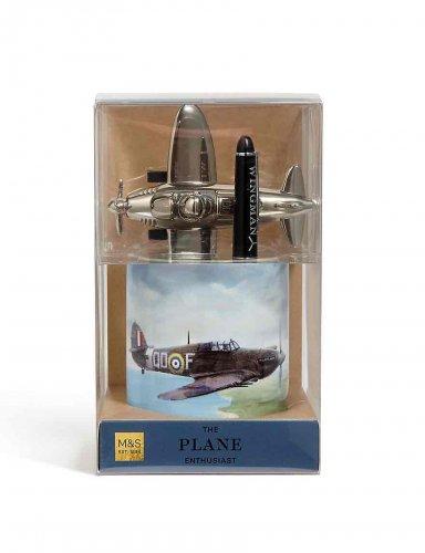 Spitfire Pen Pot & Paperweight gift set M&S half price £6.25