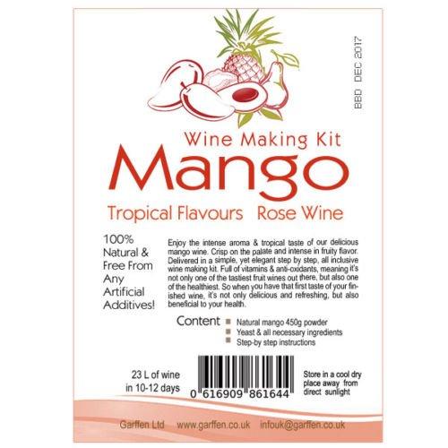 Mango Wine Kit - 30 bottles for £16.50 @ Ebay (sold by Garffen Ltd)