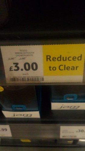 Tesco Bluetooth white Speaker was £9 now £3 @ Tesco instore