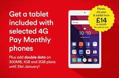 Virgin Mobile 4G 300min, ulmtd txt & 600mb data (was 300) 30 day contract & data roll over ONLY £3 per mth for 6 months