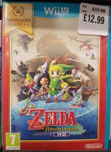 The Legend of Zelda: Wind Waker HD Wii U (Selects) £12.99 @ HMV instore