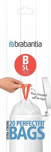 Brabantia Bin Liners, Size B, 5 L - 20 Bags @ Amazon (Add on Item) - 99p