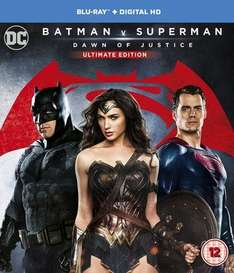 Batman V Superman Ultimate Edition Blu Ray and HD digital £8.97 (£8.07 for new email sign-ups) - New @ Music Magpie