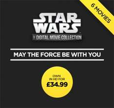 Star Wars - HD copy of episodes 1-6 for £34.99 @ Wuaki TV