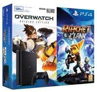 PlayStation 4 500GB Slim with Overwatch and Ratchet & Clank with NOW TV 2 Month Sky Cinema Pass GAME