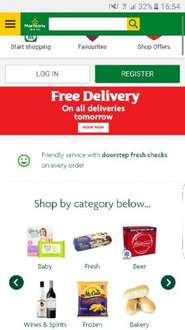 Morrisons groceries online free delivery on orders for tomorrow on £40 spend