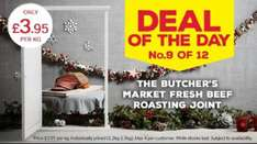Beef Roasting Joint - £3.95/Kg @ Iceland - No.9 Deal of the Day on Sunday 18th December 2016...