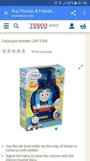 Thomas tank engine station master carrier case £3.12 tesco direct