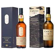 Bundle: Lagavulin 16 Year Old Whisky 70cl and Caol Ila 12 Year Old Whisky 70cl - £63.48 from Amazon