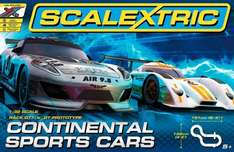 SCALEXTRIC C1319 Continental Sports Cars Set at Hawkin's Bazaar at £47.49.  50% off but add 5% extra code PLUS Free Glider