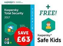 Kaspersky Total Security 2017 for 5 devices (1year), £6.99 from barclays