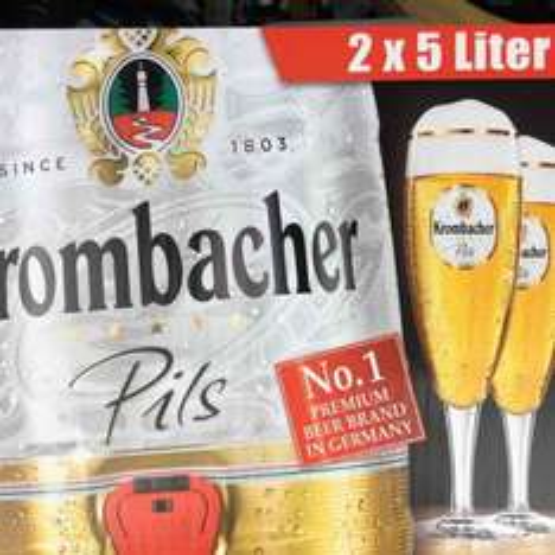 2x mini Krombacher beer kegs £12.99  @ aldi