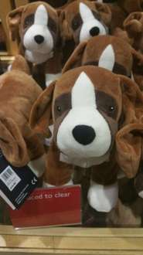 Buster the Dog Merchandise half price £4 at John Lewis.