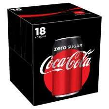 18 pack of coke zero 330ml cans £3 at heron