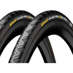 CONTINENTAL GRAND PRIX 4SEASON CLINCHER TYRE TWIN PACK 700c 25mm £40.59 @ probikekit