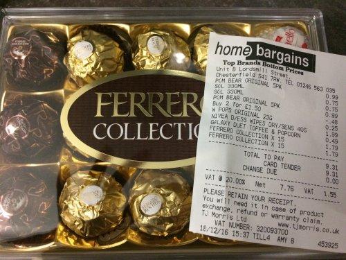 Ferrero Roche Collection - Home Bargains  -15 pieces 175g @  £1.79