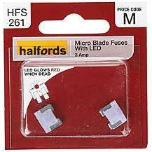 Halfords Mini/Micro Blade Fuses 10p for 2 was £3.29