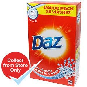DAZ 80 wash powder instore @Home Bargains - £8.99