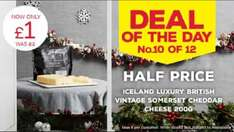 Luxury British Vintage Somerset Cheddar (200g) - £1 @ Iceland - No.10 Deal of the Day on Monday 19th December 2016...