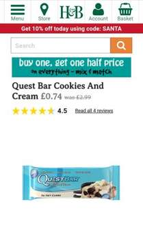 Quest Bar Cookies And Cream Cookies And Cream 74p| Holland & Barrett - the UK's Leading Health Retailer