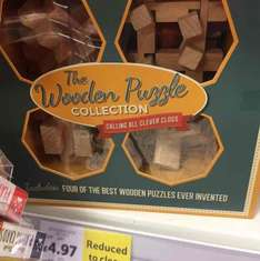 The Wooden Puzzle Collection. Set of 4. Less than half price. Perfect gift for stockings. Only £4.97 at Tesco in store.