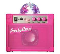 Pretty pink party amplifier half price £9.99 @ argos