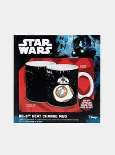 Star Wars gifts / stocking fillers reduced with free delivery for Christmas eg BB8 heat change mug was £7.99 now £5.59, Stormtrooper travel mug was £10.99 now £7.69 @ Burton