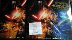 Calendars inc Star Wars reduced to £3.75 at Tescos instore
