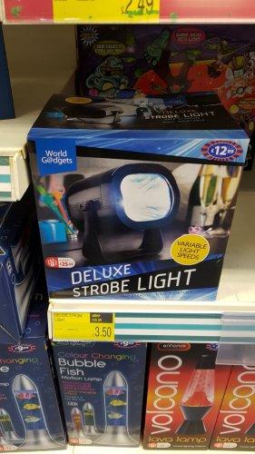 deluxe strobe light £3.50 B&M