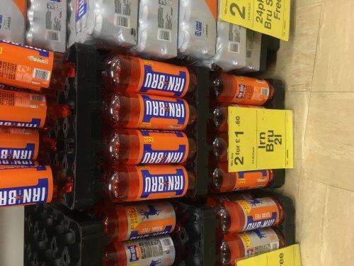 2 x Irn bru 2 litre bottles £1.60 @ Farmfoods