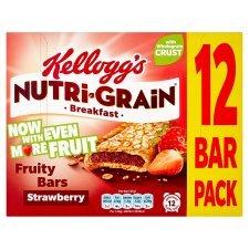 Kelloggs Nutrigrain Strawberry (12 x 37g) was £3.79 now £2.00 @ Tesco